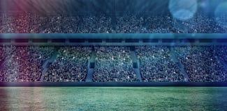 Цифровое изображение толпить футбольного стадиона 3d Стоковые Фотографии RF