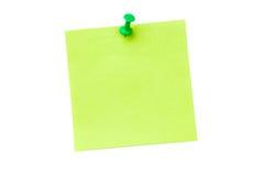 Цифровое изображение pushpin на зеленой книге Стоковая Фотография