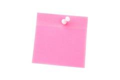 Цифровое изображение pushpin на розовой бумаге Стоковые Изображения RF