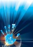цифровое касание обеспеченностью Стоковое фото RF