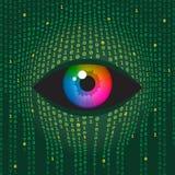 цифровое людское зрение технологий Иллюстрация штока