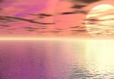 цифровое небо моря бесплатная иллюстрация
