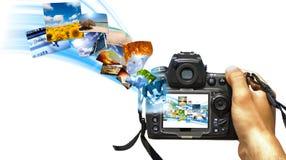 цифровое отражение Стоковые Фотографии RF