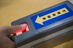 цифровое принимая thumbprint Стоковые Изображения RF