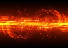 Цифровое технологии футуристическое монтажная плата технологии Соединение технологии абстрактная предпосылка вектор Стоковые Изображения
