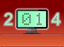 Цифровой век Нового Года 2014 Стоковое Фото