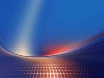 цифровой геометрический ландшафт Стоковая Фотография