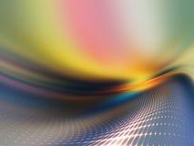 цифровой геометрический ландшафт Стоковые Изображения