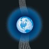 цифровой глобус Стоковая Фотография