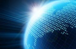 цифровой глобус иллюстрация вектора