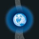 цифровой гловальный вектор Стоковые Изображения