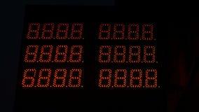Цифровой дисплей только с числом 8 стоковое изображение rf