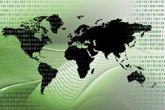 цифровой зеленый мир Стоковые Фото