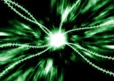 цифровой зеленый цвет потока Стоковая Фотография RF
