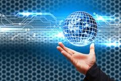 цифровой мир владением руки Стоковая Фотография RF
