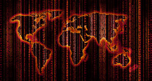 цифровой мир карты Стоковое фото RF