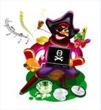 цифровой пират Бесплатная Иллюстрация