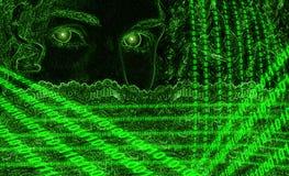 цифровой портрет Стоковые Изображения RF