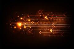 Цифровой поток операций препровождает важную информацию Стоковые Изображения
