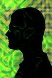 цифровой силуэт человека Стоковая Фотография RF
