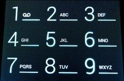 цифровой телефон клавиатуры стоковая фотография