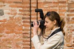 цифровой фотограф Стоковые Изображения