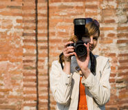 цифровой фотограф Стоковое фото RF
