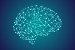 цифровой человеческий мозг 3d бесплатная иллюстрация