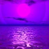 цифровой seascape иллюстрация вектора