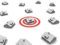 цифрово произведенное высокое изображение домов дома другие res удивило цель Стоковая Фотография