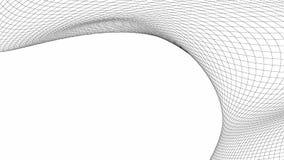 Цифровые данные и сетевое подключение изогнули линии в технологии иллюстрация штока