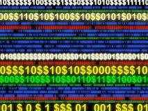 цифровые доллары электронного перехода Стоковое фото RF