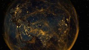 Цифровые соединения восточной полусферы иллюстрация вектора