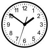 Цифровые часы установленные стеной. Стоковая Фотография RF