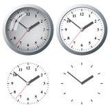 Цифровые часы установленные стеной Стоковое Изображение