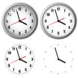 Цифровые часы установленные стеной Стоковое Изображение RF