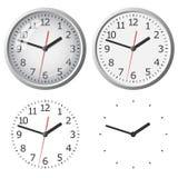 Цифровые часы установленные стеной Стоковые Фото