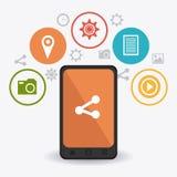 Цифров и социальные маркетинговые стратегии бесплатная иллюстрация