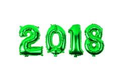 2018 цифров от воздушных шаров на белой предпосылке Стоковые Изображения
