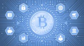 Цифров Bitcoin иллюстрация штока
