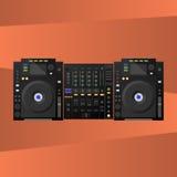 Цифров DJ украшают, смеситель вектор Стоковые Фото