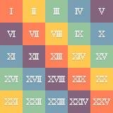 цифры 8-разрядного искусства пиксела римские 1-25 Вектор Eps10 иллюстрация штока