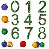 цифры украшения рождества Стоковое Фото
