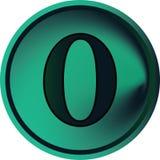 цифр кнопки нулевой Стоковая Фотография