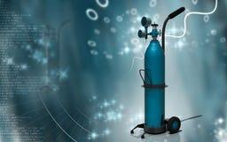 Цилиндр кислорода Стоковая Фотография
