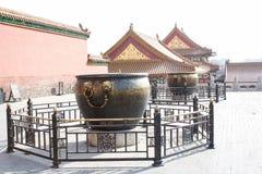 Цилиндр меди золота запретного города Стоковое Изображение