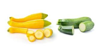 Цукини свежего овоща на белой предпосылке Стоковые Изображения