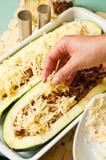 Цукини с пряный заполнять мяса Стоковые Изображения RF