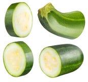 Цукини vegetable сердцевины сквоша изолированный на белой предпосылке Стоковые Изображения RF