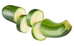Цукини vegetable сердцевины сквоша изолированный на белой предпосылке Стоковая Фотография RF